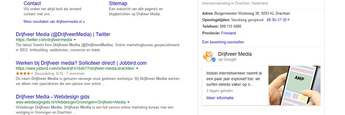 screenshot google posts drijfveer media